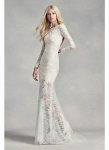 white by vera wang lace and beads wedding dress david39s With white by vera wang short sleeve lace wedding dress