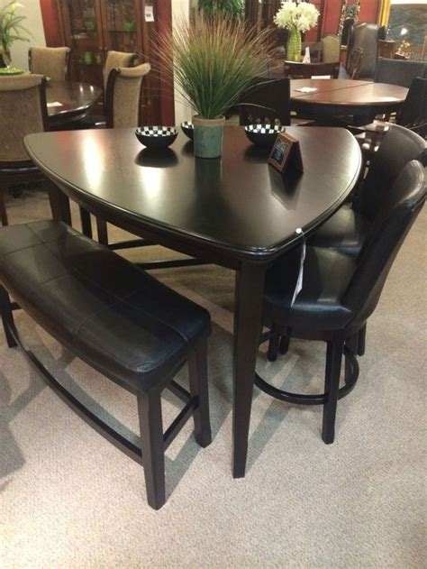 triangle dining table with bench 22 best kitchen table images on dining sets