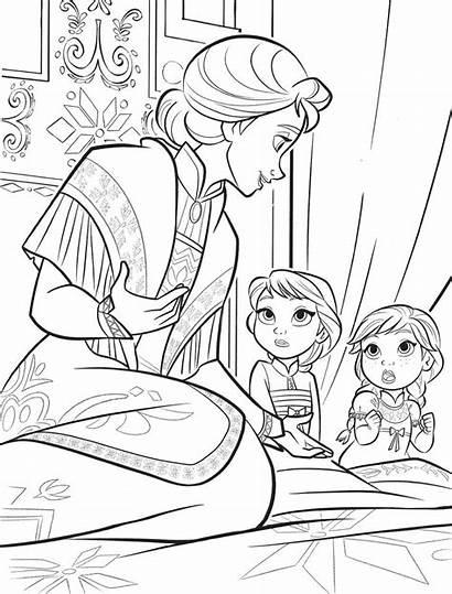 Frozen Elsa Coloring Anna Mother Disney Iduna