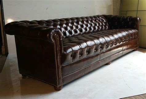 chesterfield sofa brown leather brown leather button tufted chesterfield sofa for