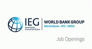 Jobs at IEG   Independent Evaluation Group