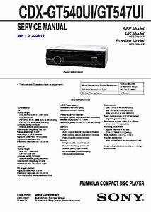 Sony Cdx Gt54uiw Wiring Diagram
