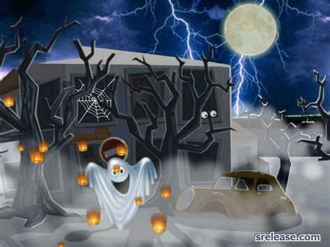 Ghost Animation Wallpaper - animated haunted house desktop wallpaper wallpapersafari