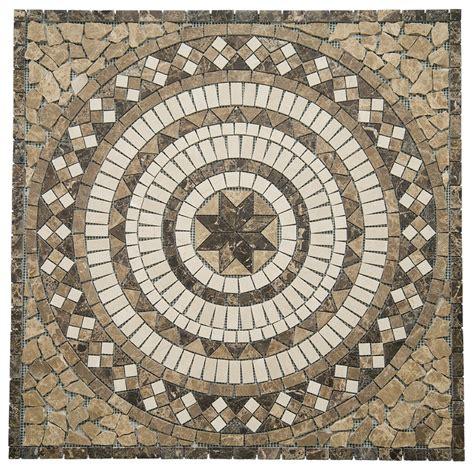 travertine floor medallions marble medallion mosaic 26 quot x 26 quot floor tile inlay crema marfil design travertine ebay