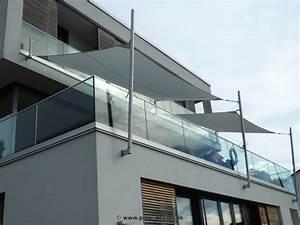 sonnensegel fur den balkon in premium qualitat pina designr With französischer balkon mit sonnenschirm oder sonnensegel