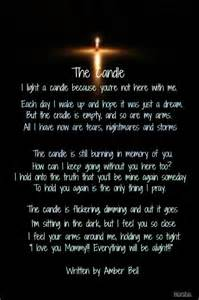 infant loss candles collections of poem for my deceased