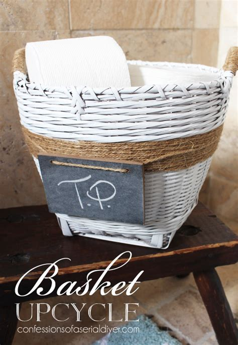 hometalk painted basket upcycle