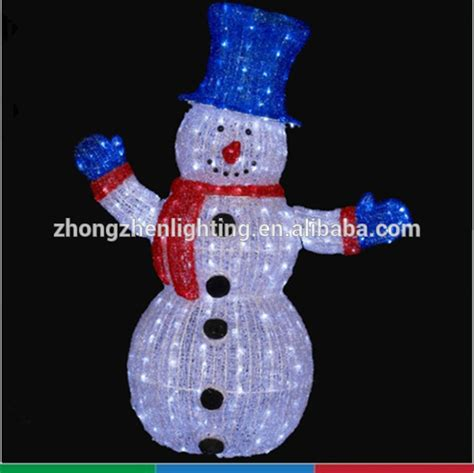 ce wholesale outdoor light up standing snowman