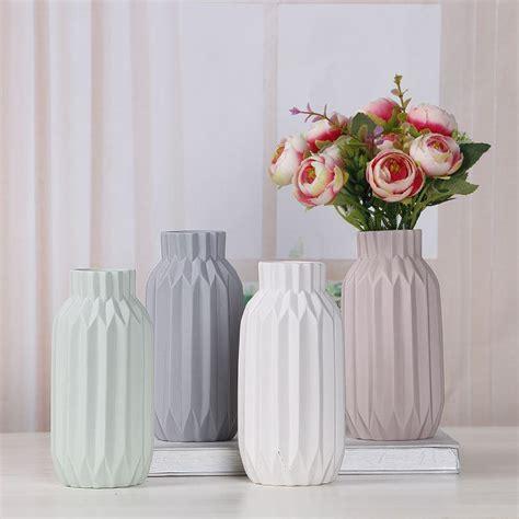 Decor Vase by Ceramic Flower Vase Home Decor Simple Luxury Desk Decor