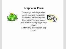 SMART Exchange USA Leap Year Poem and Facts