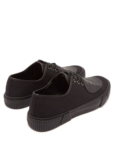 Rubber-patch canvas low-top trainers | Both ...