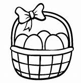 Easter Egg Coloring Basket Pages Printable Baskets Draw Drawing Sheets Bunny Bucket Colouring Picnic Template Carton Netart Clipart Getdrawings Books sketch template