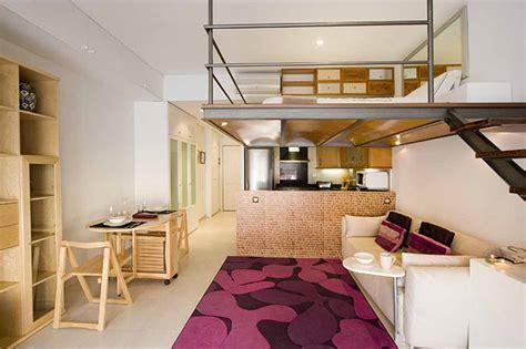 furnished studio  rent   raval barcelona