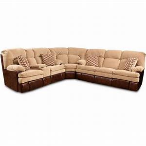 Homestretch 103 chocolate series reclining corner for Sectional sofa 103