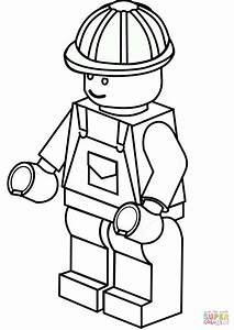 Lego Construction Worker Coloring Page Free Printable