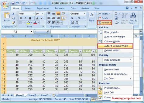 microsoft excel 2007 tutorial home tab softknowledge s