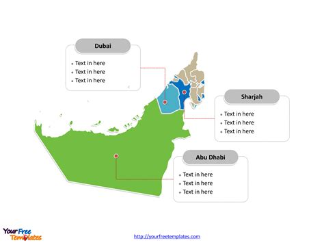 template uae ppt free united arab emirates editable map free powerpoint