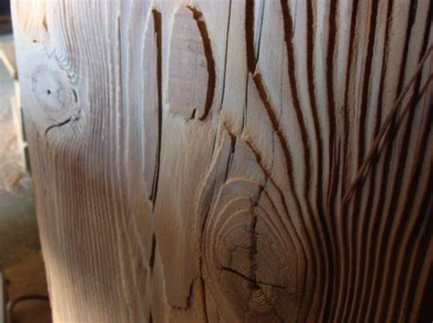 imprinting wood grain  concrete  rough cut cedar