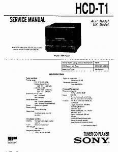 Sony Cmt-t1  Hcd-t1 Service Manual