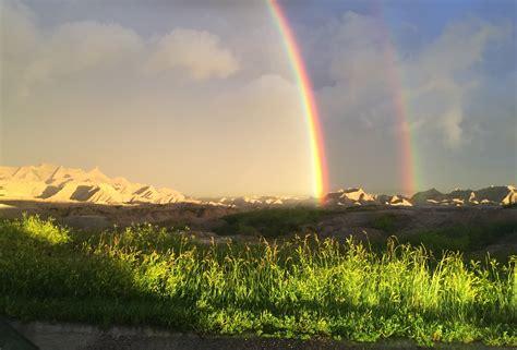Badlands Rainbow After Storm Fan Photofridayblack Hills