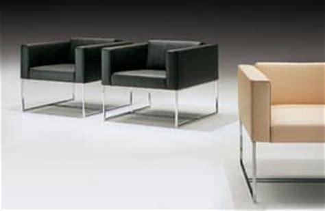 modern armchair  square tubular  contract