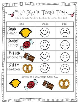 five senses taste test by preschoolers and tpt 287 | original 2872751 1