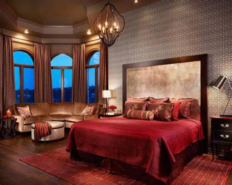 Red Master Bedroom Design Ideas