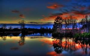 Beautiful Colorful Paulk Lake Sunset – Nature Lakes HD ...