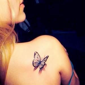 Tatouage Papillon Signification : tatouage papillon omoplate cute pinterest tatoo and ~ Melissatoandfro.com Idées de Décoration