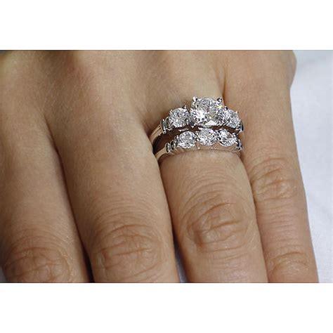 stone diamond bridal sets unique engagement ring