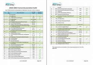 iso 14001 audit checklist xls With document management tools list