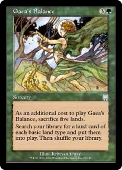 mtg landfall deck edh gaea s balance magic card