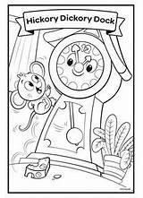 Hickory Dock Dickory Coloring Nursery Rhymes Crayola Disney Princess Aurora Sunshine Snow Fairies Mickey Bear Mouse Friends sketch template