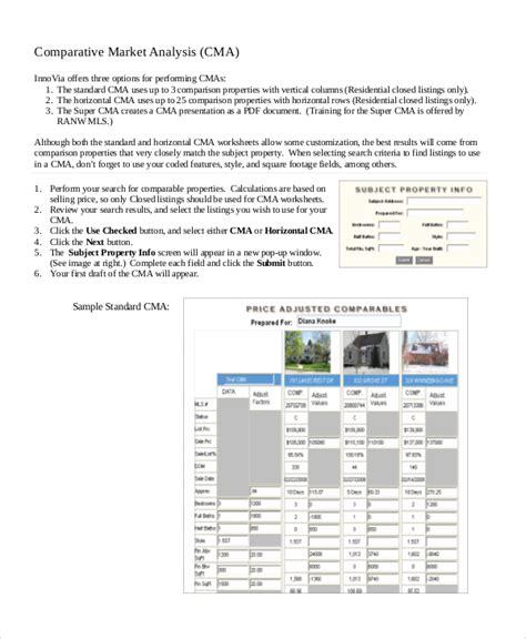 comparative analysis template 8 market analysis sles pdf word sle templates