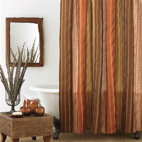 Brown Green Shower Curtain by Beddingstyle Columbia Sierra Copper Shower Curtain