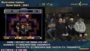 Secret of Mana :: SPEED RUN (Co-op) SNES by StingerPA ...