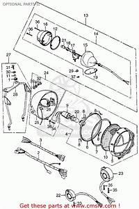 Honda Tl125 Trials 1974 K1 Usa Optional Parts Ii