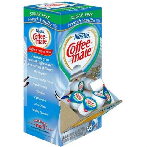 Perfect your coffee with sugar free french vanilla flavored creamer that's triple churned and 2x richer than milk. Coffee Mate Sugar Free French Vanilla Liquid Creamer Singles 50 Pac...