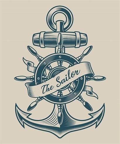 Anchor Ship Wheel Nautical Clipart Ancla Barco