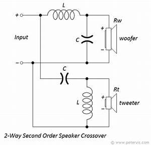 2 Way Second Order Speaker Crossover Calculator