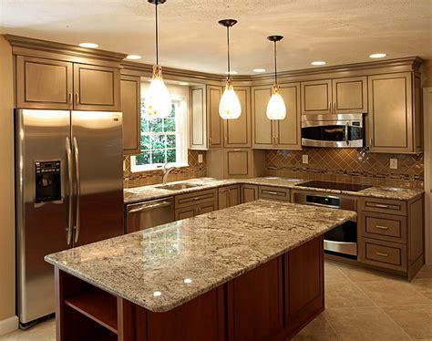 Modern Espresso Kitchen Cabinets With Granite