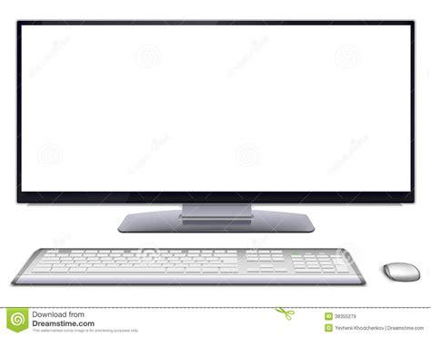 ordinateur de bureau ecran ordinateur de bureau moderne avec l 39 écran vide images