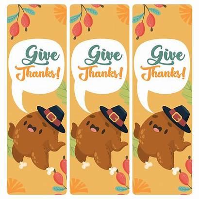 Thanksgiving Printable Bookmarks Printablee