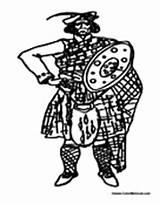 Scottish Scotland Coloring Kilt Sheets sketch template