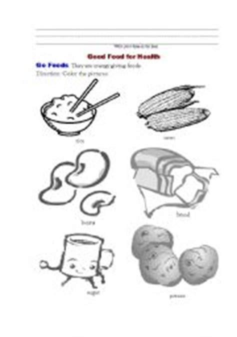 food for health 1 go foods esl worksheet by 253 | thumb902140933350077