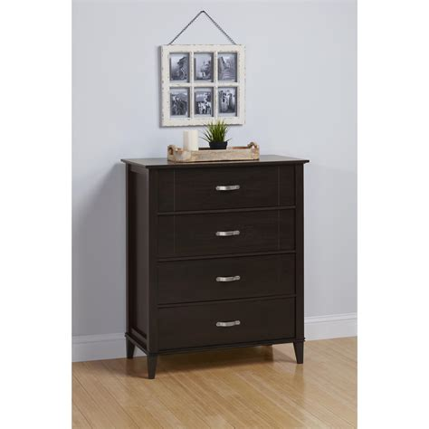 ameriwood dresser assembly ameriwood furniture quinn 4 drawer dresser espresso