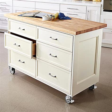 kitchen roller cabinet rolling kitchen island woodworking plan from wood magazine 2504