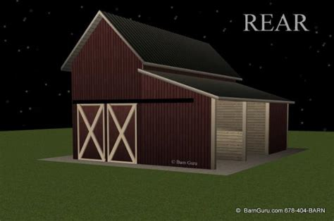 stall shed row horse barn beaverdale