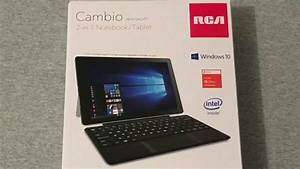 Rca Cambio 2-in-1 Notebook  Tablet Unboxing