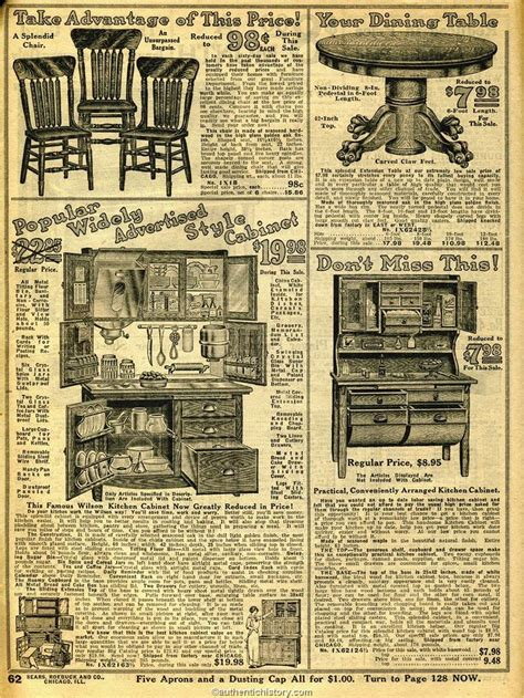 sears household catalog kitchen furniture early